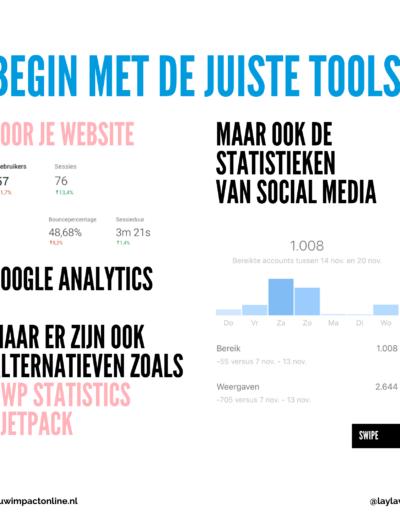 Begin met de juiste tools voor je website.