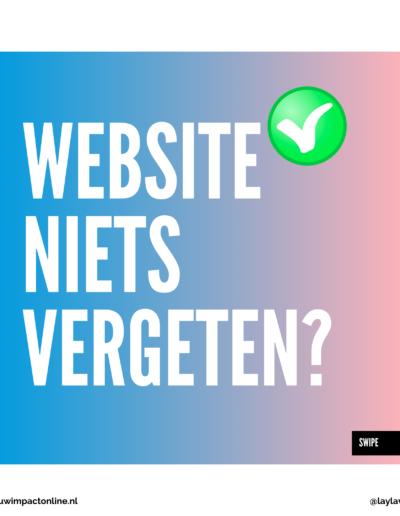 Niets vergeten voor je website
