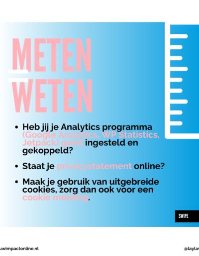 Meten is weten van je website
