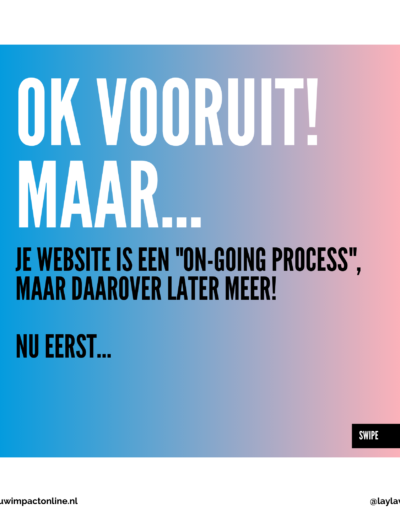 Website on-going process