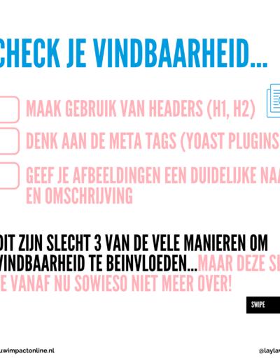 Vindbaarheid van je website