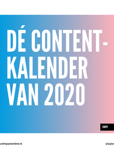 contentkalender van 2020