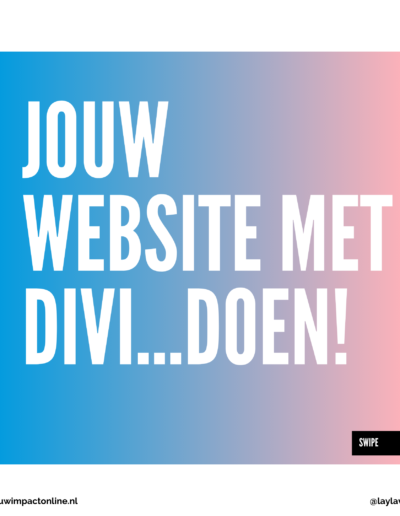 divi website maak jouw website