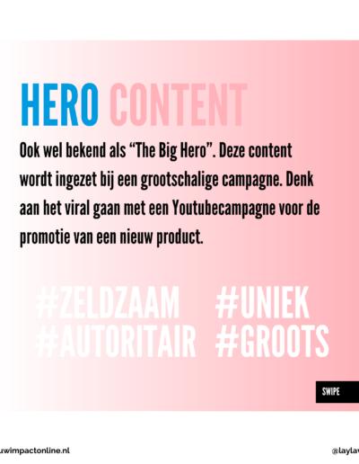 Hero content voor contentkalender