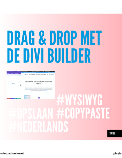 divi builder drag and drop website
