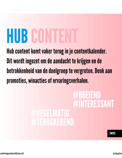 Hub content voor jouw impact online