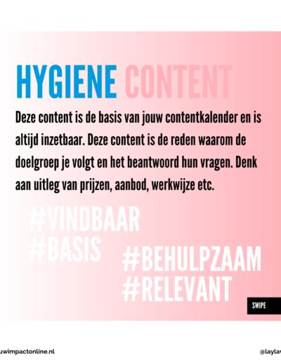 Hygiene content voor je contentkalender