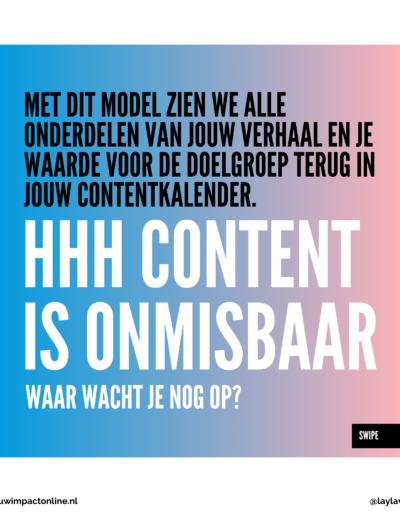 HHH model voor contentkalender