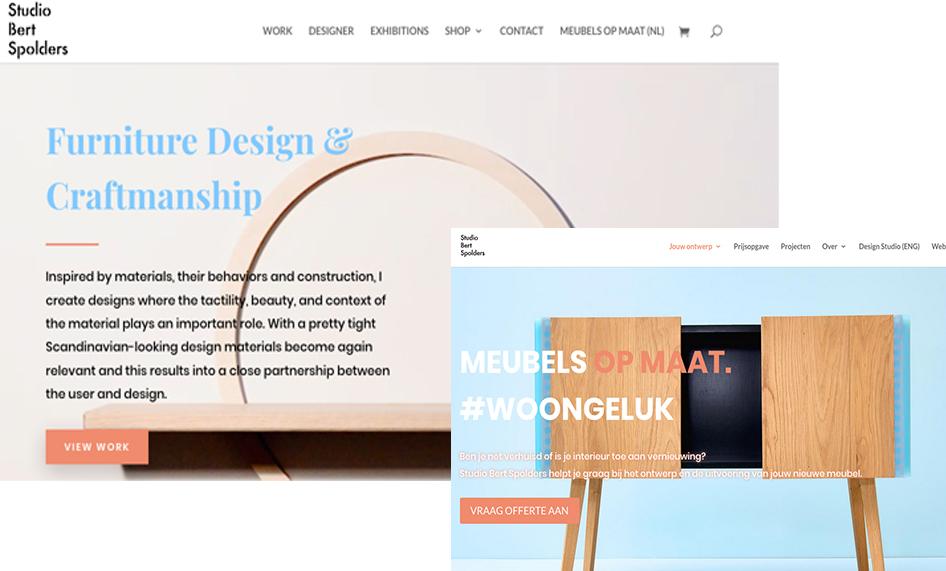 Wordpress website met Divi voor Studio Bert Spolders