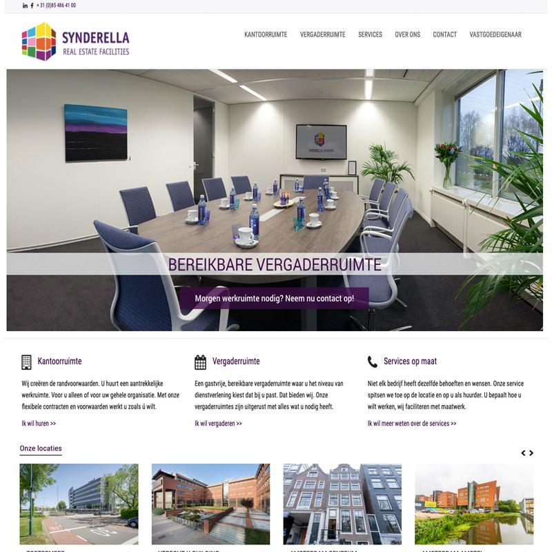 Synderella vastgoed website met WordPress Flexform template
